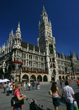 Marienplatz in Munich. Late in the day stock images