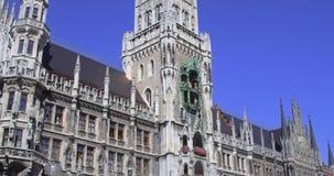 marienplatz Munich banque de vidéos