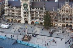 marienplatz munich Royaltyfri Fotografi