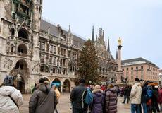 marienplatz munich Royaltyfri Foto