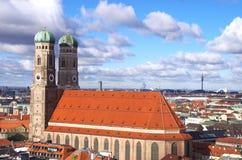 Marienplatz Munich. Cathedral Church of Our Lady (Frauenkirche) at Munich Marienplatz Royalty Free Stock Photos
