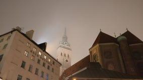 Marienplatz. Munich , Marienplatz, foggy Stock Photos