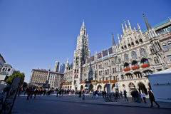 Marienplatz in Munich, Germany. New Town Hall (Neues Rathaus) in Marienplatz, Munich, Germany stock photography