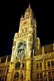 Marienplatz in munich germany at night Royalty Free Stock Photo