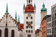 Marienplatz in Munich, Germany. Old Town Hall at the Marienplatz in Munich, Germany royalty free stock photo