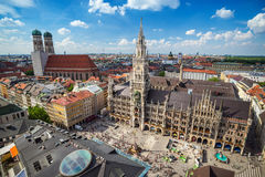 Marienplatz - Munich - Germany. Marienplatz town hall - Munich - Germany royalty free stock photos