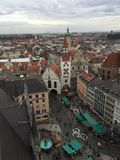 Marienplatz, Munich, Germany. View from  ew Town Hall. Picture taken in 2015 Royalty Free Stock Photo