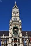 Marienplatz Munich. Glockenspiel bell tower at Marienplatz Munich, Germany Royalty Free Stock Photo