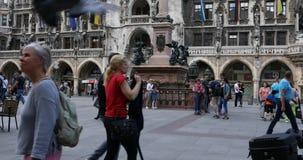 Marienplatz, Munich stock footage