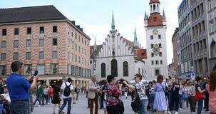 Marienplatz, Munich, Street level stock footage