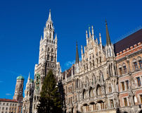 The Marienplatz in Munich with tree christmas Stock Image