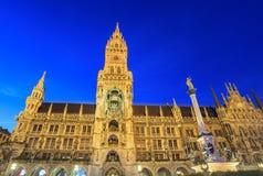 Marienplatz - Munich - Tyskland Arkivfoton