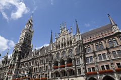 Marienplatz, New Town Hall Stock Images