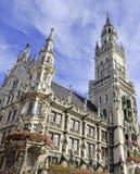 Marienplatz no centro da cidade, Munich, Alemanha Fotografia de Stock Royalty Free