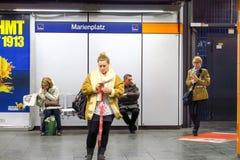 Marienplatz S-Bahn station Stock Photos
