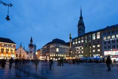 Marienplatz square in Munich Stock Photo