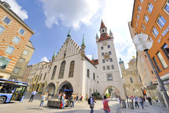 Marienplatz. At Marienplatz on a sunny afternoon. Munich, Germany Royalty Free Stock Image