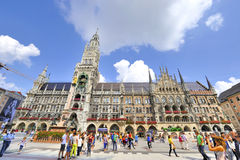 Marienplatz. At Marienplatz on a sunny afternoon. Munich, Germany. City Town Hall Royalty Free Stock Images