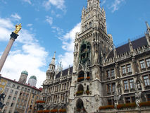 Marienplatz, Town Hall - munich germany. Marienplatz, Town Hall - clock tower munich germany stock images