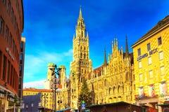 Marienplatz urząd miasta w Monachium, Niemcy Obrazy Stock