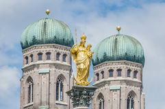 The Mariensäule column in Munich, Germany. Royalty Free Stock Image