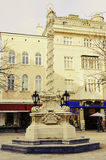 Mariensäule an Kreuz Herrquadrat St. Pölten entwickelt Lizenzfreie Stockfotografie