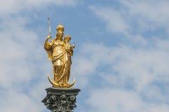 The Mariensäule column in Munich, Germany. Stock Photos