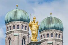 The Mariensäule column in Munich, Germany. Stock Photography