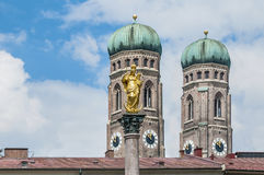 The Mariensäule column in Munich, Germany. Royalty Free Stock Photography