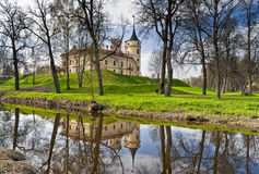 Castle in an early spring day. Mariental Castle in an early spring day with reflection in water Royalty Free Stock Image
