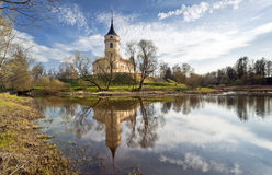 Castle in an early spring day. Mariental Castle in an early spring day with reflection in water Stock Photography
