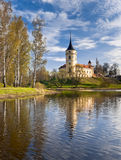 Castle in an early spring day. Mariental Castle in an early spring day with reflection in water Royalty Free Stock Images