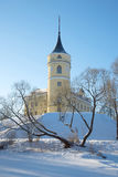 Mariental Castle in Pavlovsk on a sunny February day. Saint-Petersburg, Russia Stock Images