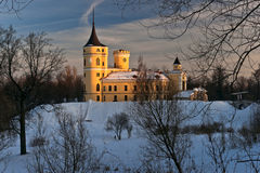 Mariental castle in winter. With earthworks under snow Royalty Free Stock Images