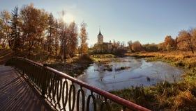 Mariental, kasteel van keizer Pavel I, in Pavlovsk Royalty-vrije Stock Foto's