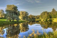 Marientalsky park. Marientalsky pond. Pavlovsk. Saint Petersburg. Stock Image