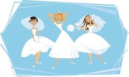 Mariées heureuses Photographie stock libre de droits
