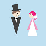 Maries. Maried man and woman as simple but funny characters Royalty Free Stock Photos