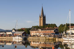 Mariestad στον ποταμό Tidan Στοκ Εικόνες