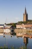 Mariestad στον ποταμό Tidan Στοκ Φωτογραφία