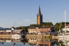 Mariestad in Fluss Tidan Stockbilder