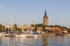 Mariestad at river Tidan Royalty Free Stock Image