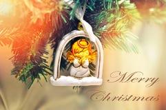 Mariez la conception de fond de Noël pour votre carte de voeux, insectes, invitation, affiches, brochure, bannières, calendrier Image stock