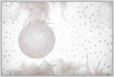 Mariez la décoration de blanc de carte de voeux de Noël Photographie stock