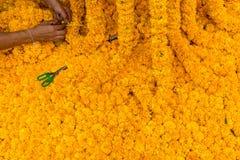 Marigold διακόσμηση λουλουδιών Στοκ φωτογραφία με δικαίωμα ελεύθερης χρήσης