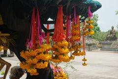 Marigold flower garland Stock Images