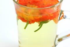 Marigold flower tea Stock Photos