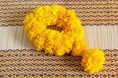 Marigold flowers garland Royalty Free Stock Photo