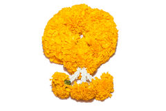 Marigold flowers garland Royalty Free Stock Photo