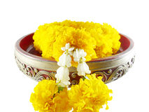 Marigold garland (with clipping path) Stock Photography